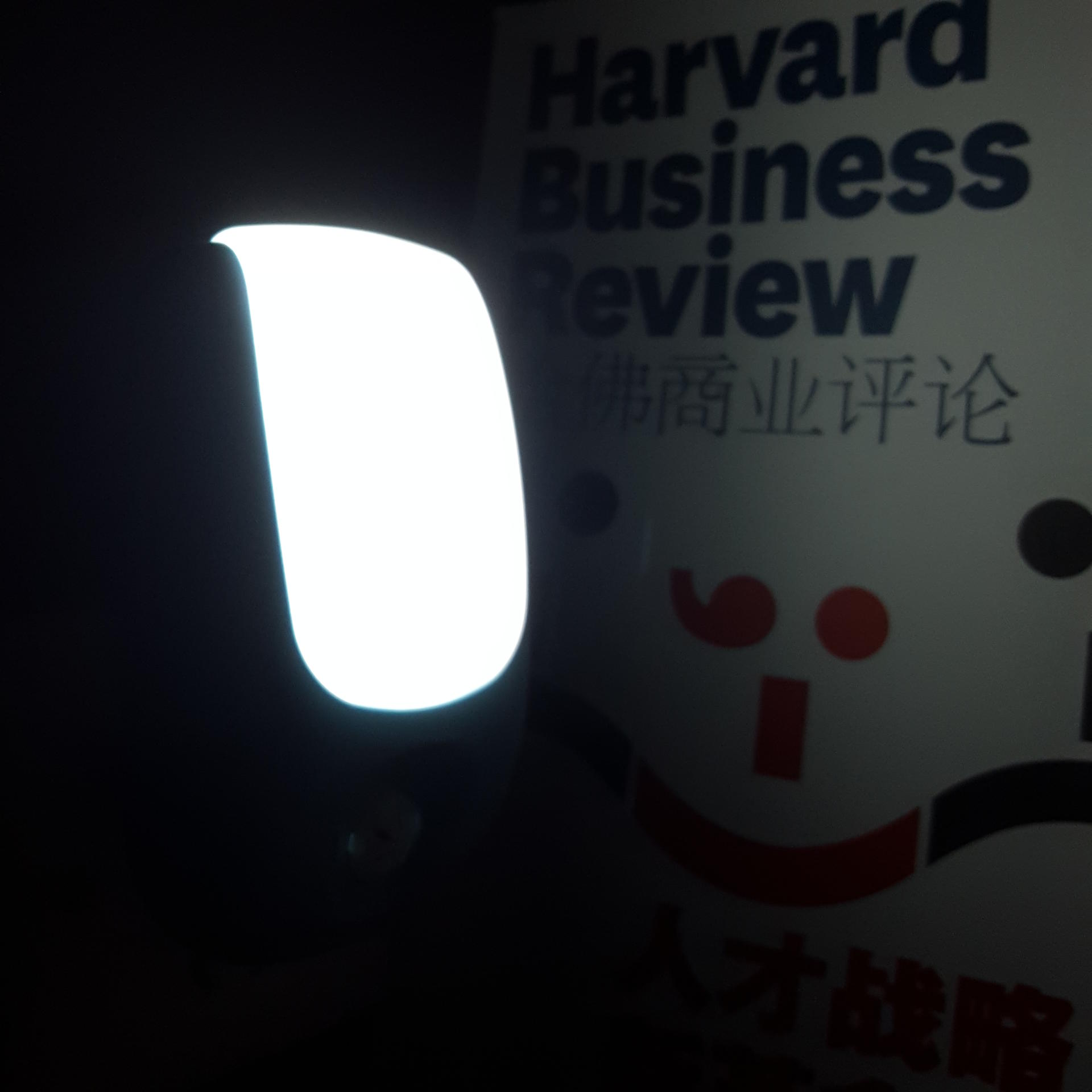 A72 OEM logo pattern dusk to dawn control1 watts 8 LED ABS material warm white light for room