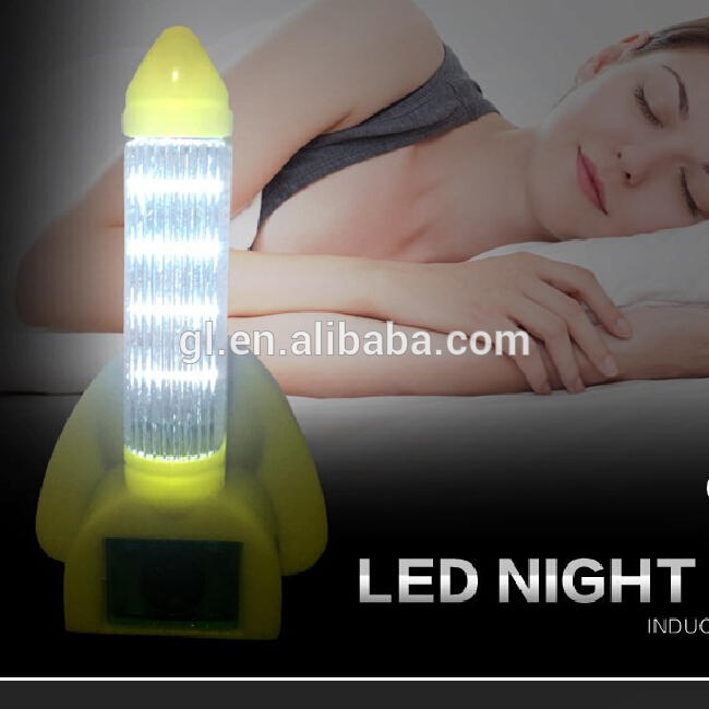 A56 OEM rocket shape bedroom mini LED sensor plug in CB CE ROHS Dusk To Dawn night light and switch for baby bedroom Nursery