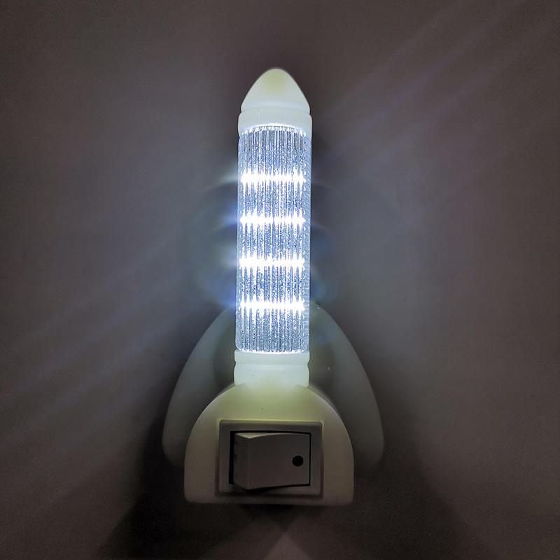 A56-K BS Plug rocket led sensor night light for baby gift bedroom nursery kids baby