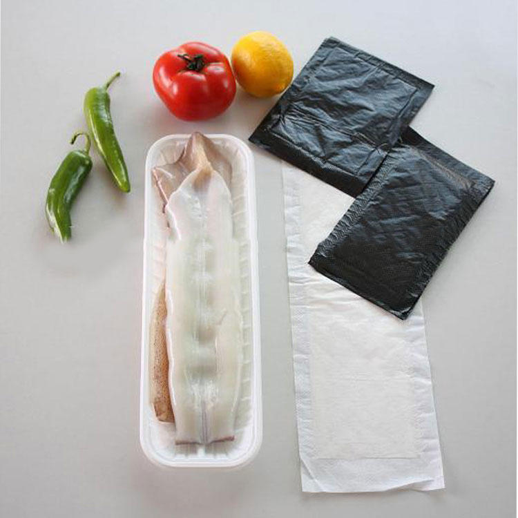 Unscented Fish Poultry MeatAbsorbent Pad For Trays Package