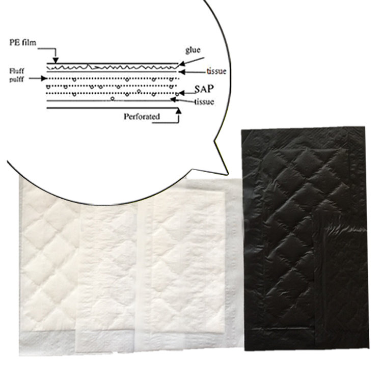 Biodegradable Safe Water Food Absorbent Pad For Meat And FishPad Packing
