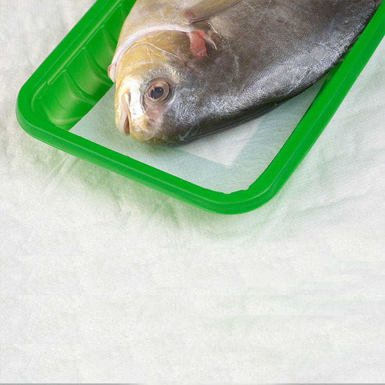 PE+Non-woven Absorbent Meat, Fish and Poultry Pad
