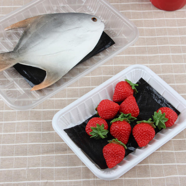 Customized PE & PET Combine With Non-Woven Paper Absorbent Meat Packing Pad Soaker Meat Pads
