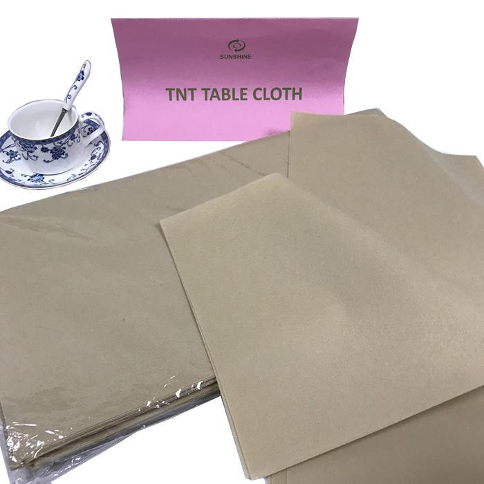 TNT Colorful Hot sale 100% pp Nonwoven fabric pre-cut table cloth