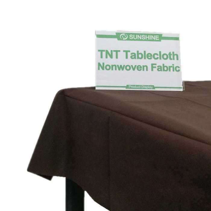 hot sale disposable color tablecolth tnt nonwovenfabric