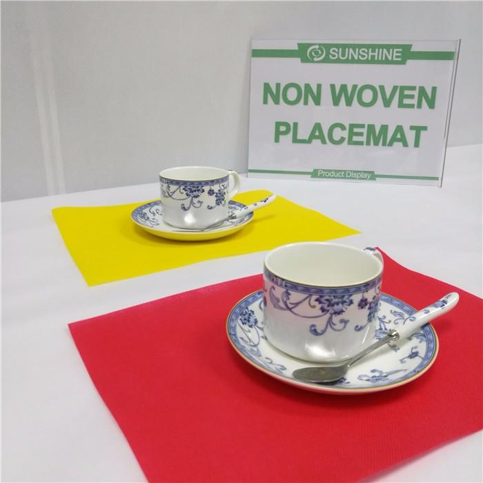 TNT colorfulPP spunbond nonwoven fabric tablecloth placemat manufacturer