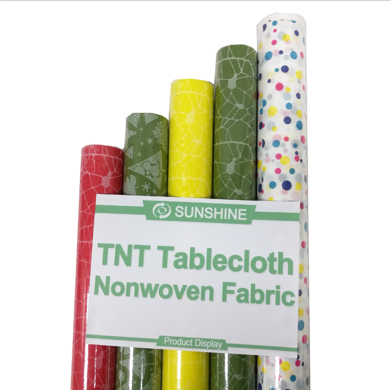 Emboss Nonwoven fabric wholesale waterproof table cloth