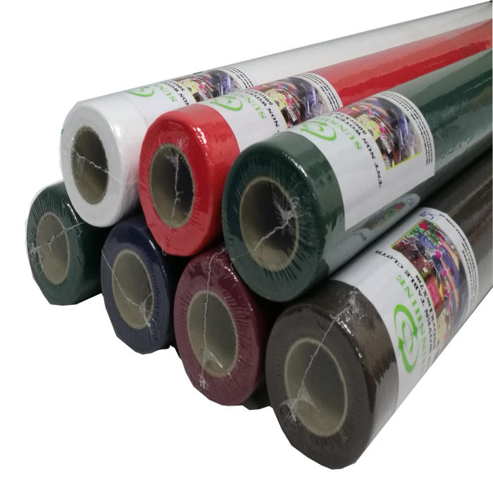 Colour TNT nonwoven spunbond pp fabric disposable tablecloth cover use for picnic