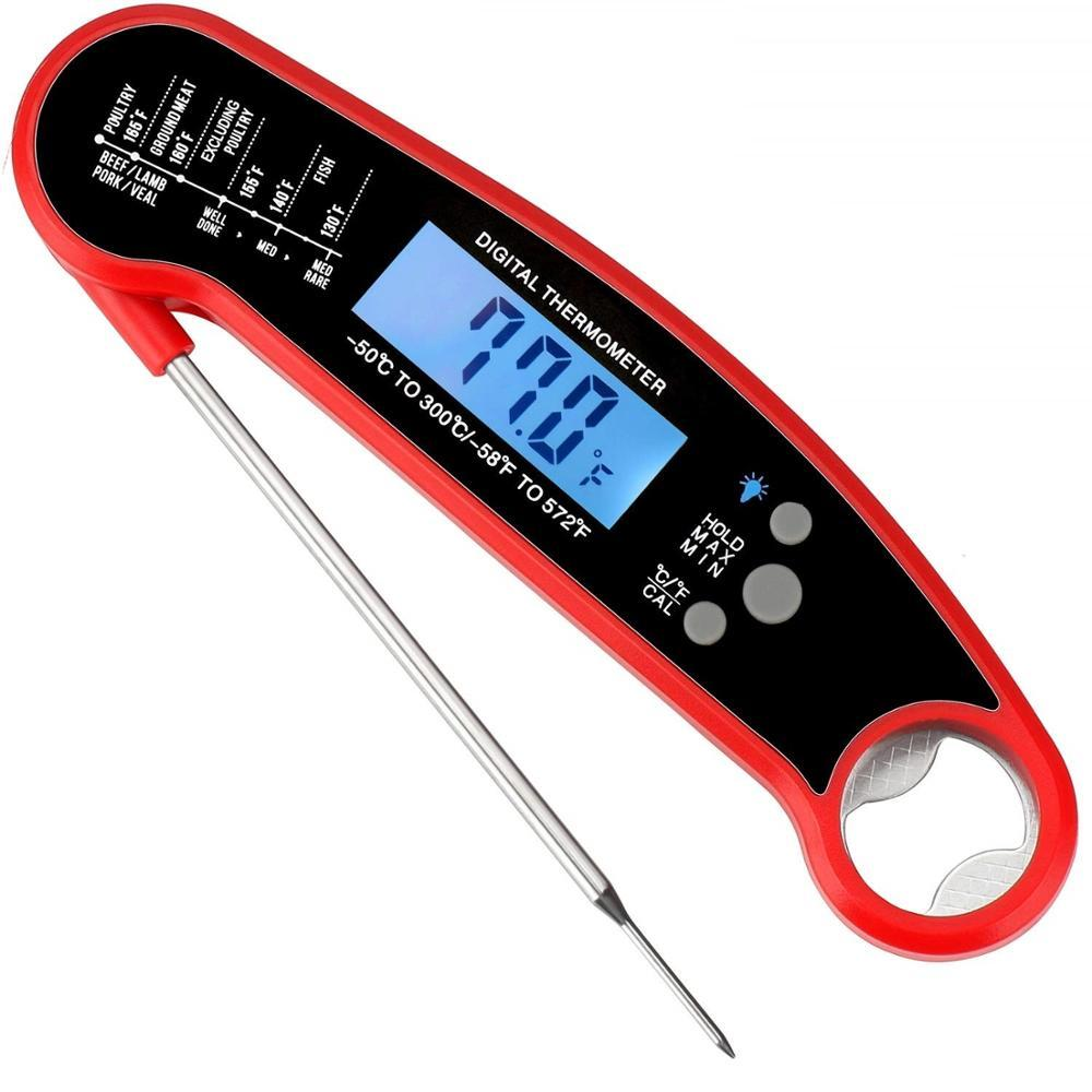 Digital Meat Thermometer with Timer for Cooking Food Barbecue Smoker Grilling Oven
