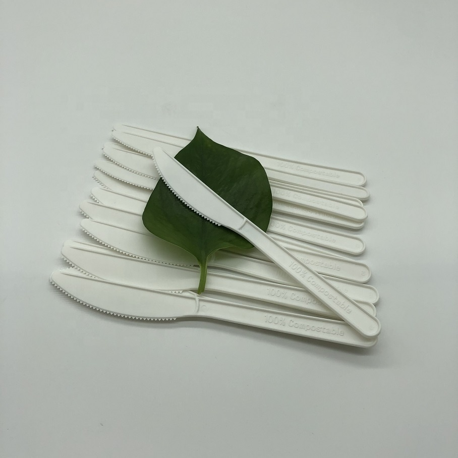 6.5 inches CPLA compostable disposable biodegradable plastic cutlery set