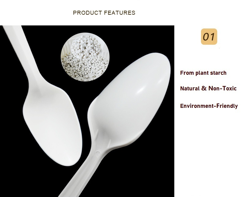 100% PLA biodegradable and compostable tableware,knives,spoons and forks