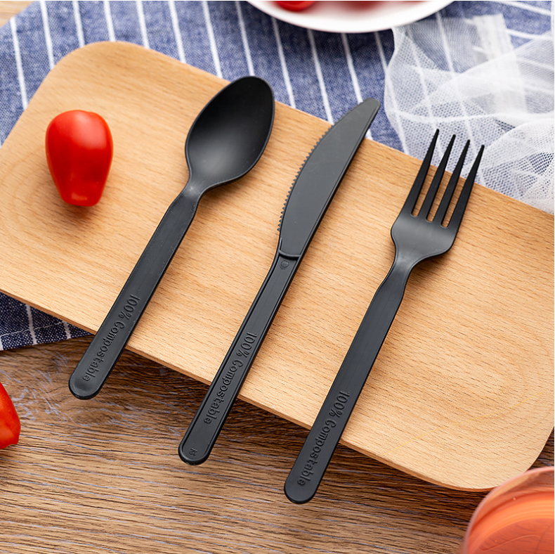 Flatware Set Disposable Fully Compostable Biodegradable PLA Cutlery
