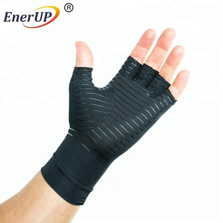 private label copper nylon fabric arthritis compression gloves