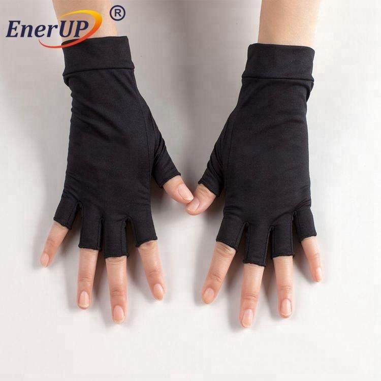 Copper Compression Half Finger Arthritis Gloves