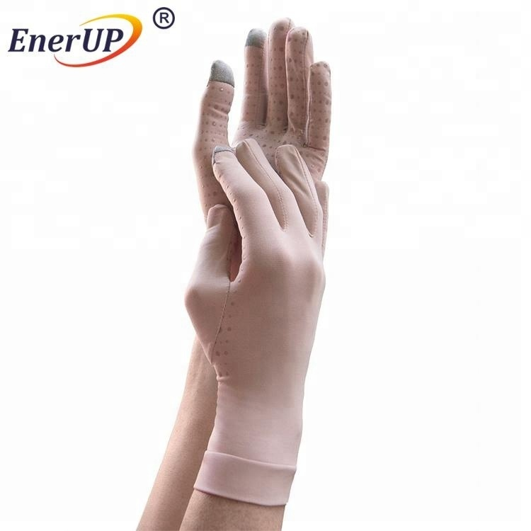 copper wear unisex arthritis recovery compression full finger gloves