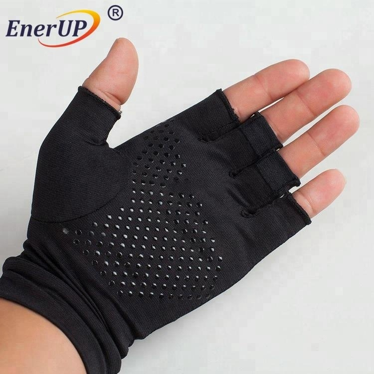 copper infused arthritis half finger gloves for hands