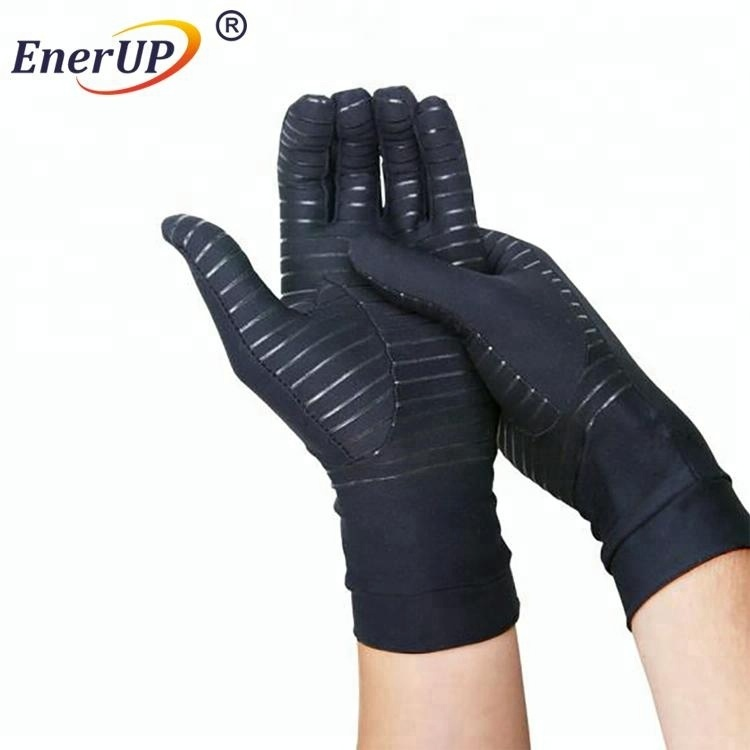 Hand Pain Relief Copper Nylon Full Finger compression Gloves for unisex