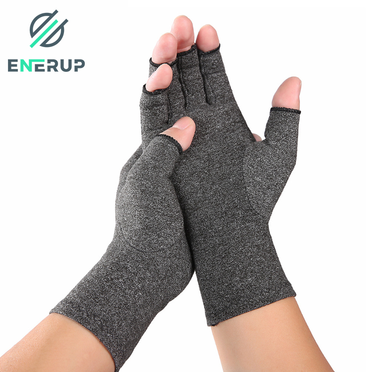 Enerup Heated Cotton Work Hand Women Men Winter Fingerless Anti Arthritis Sports Gym Other Compression Gloves Prices for Pain