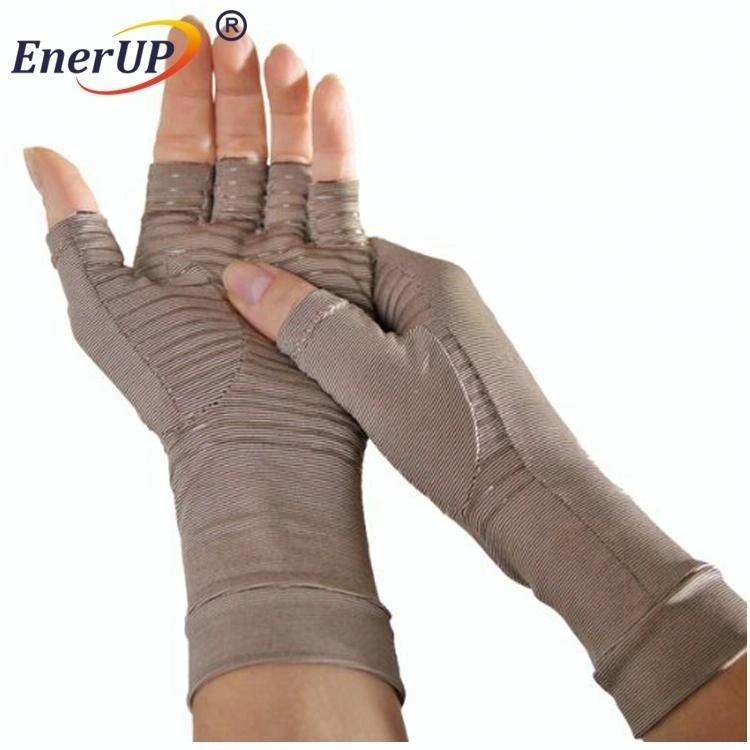 Copper compression arthritis recovery gloves