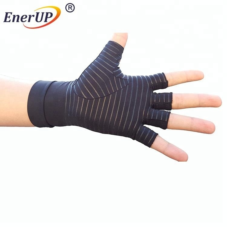 China New & Hot Half Finger Copper Compression Arthritis Gloves for sports