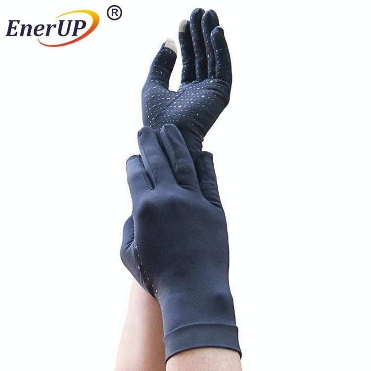 copper nylon ion knitted support compression gloves