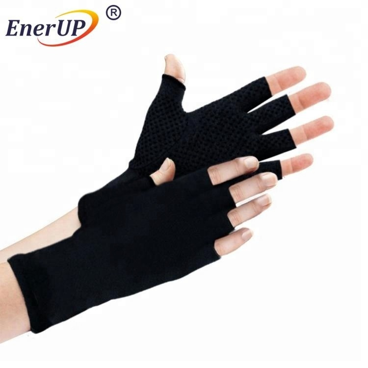 Copper Compression Custom Fingerless half finger Gym Cycling Gloves for weight lifting