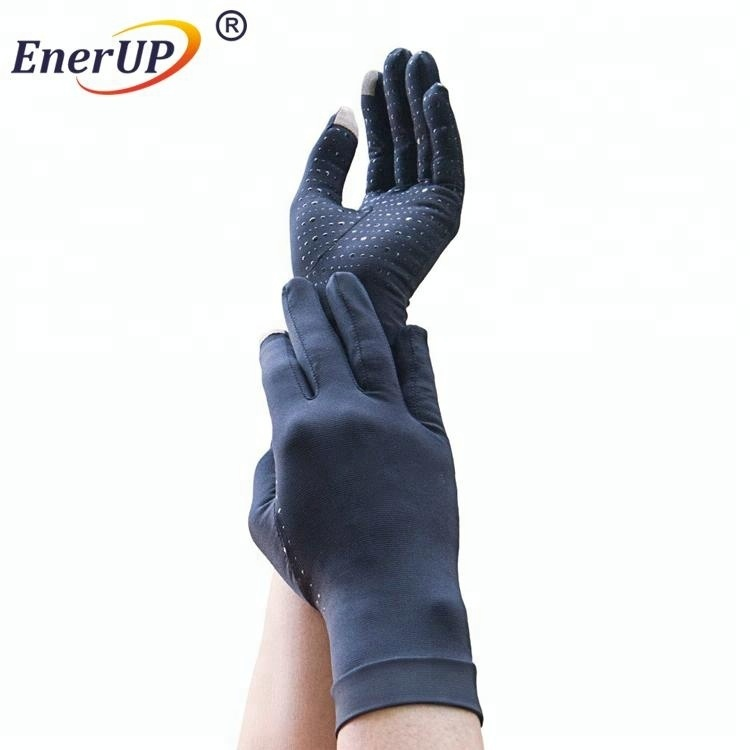 arthritis copper infused custom cycling disposable fingerless gloves