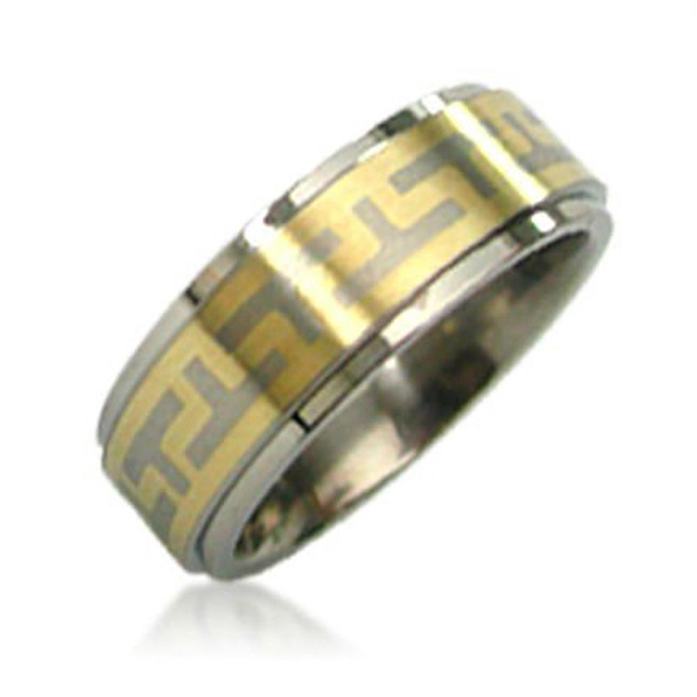 New Fashion Graduation Class Custom Gold Glitter Ring Stainless Steel