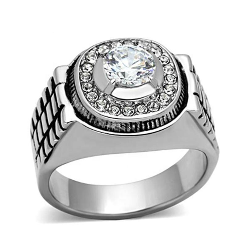 Personalized Stone Customized Ring Stainless Steel Jewelry