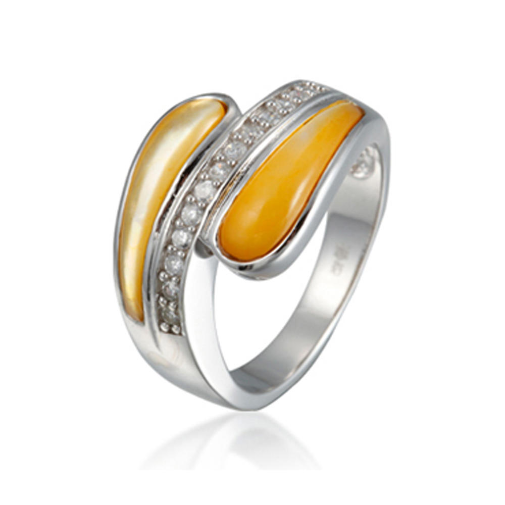 Handmade yellow topaz gemstone price silver gold ring in dubai