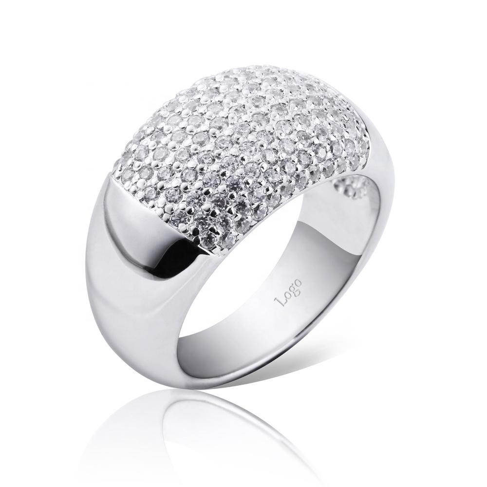 Christmas Pave Set Silver China Cz Rings For Girls