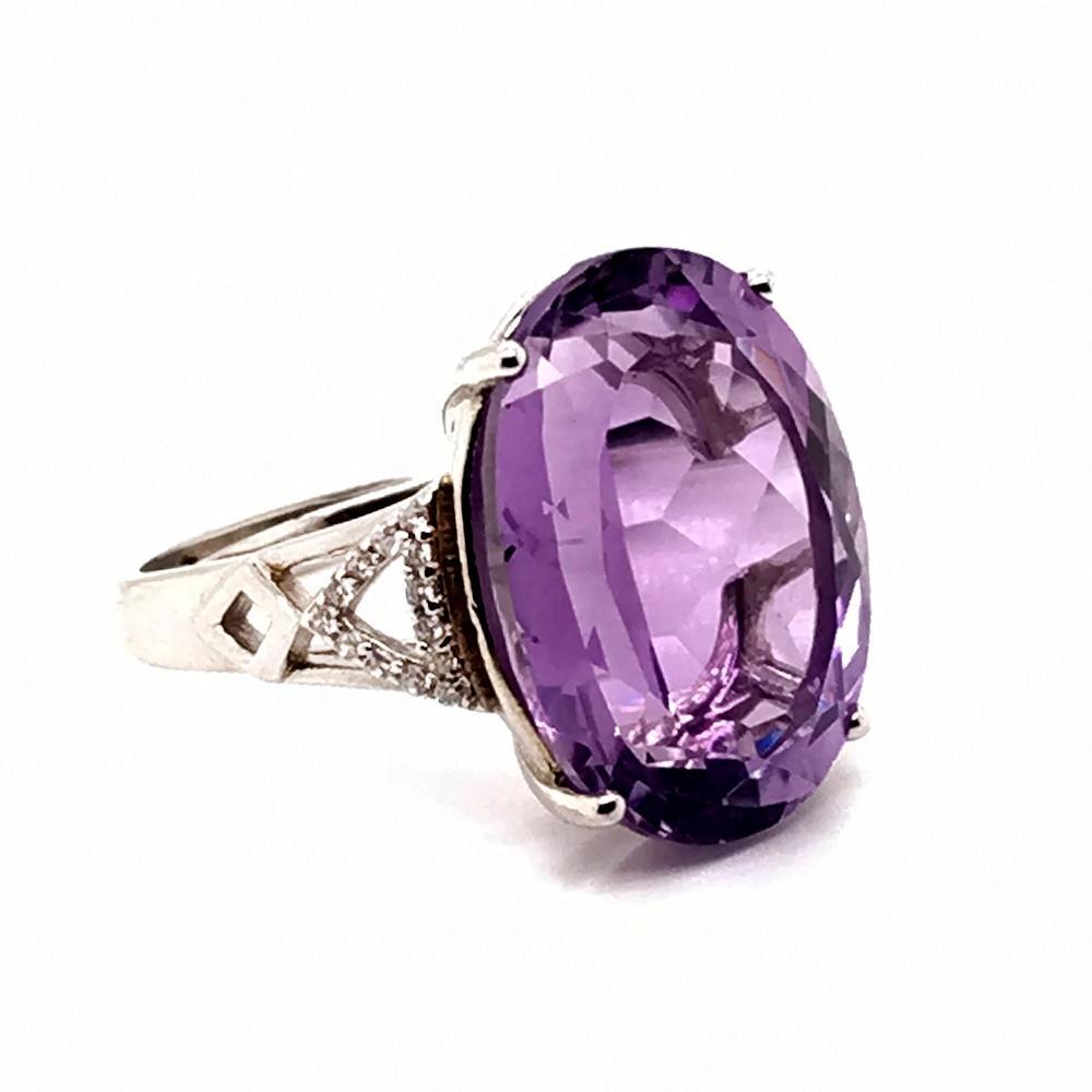 Dazzling Purple Big Crystal Stone Ring Designs For Women
