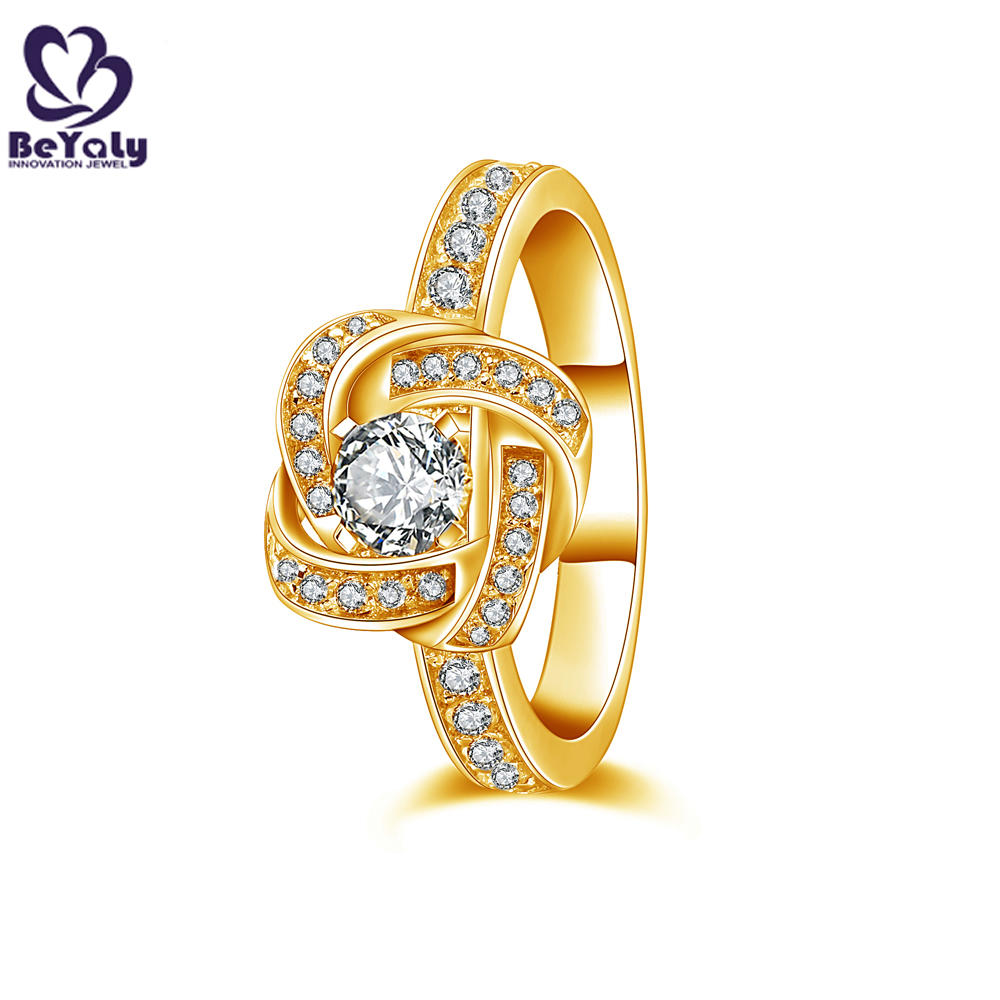 Fancy knot design cz setting stock lots sterling silver rings