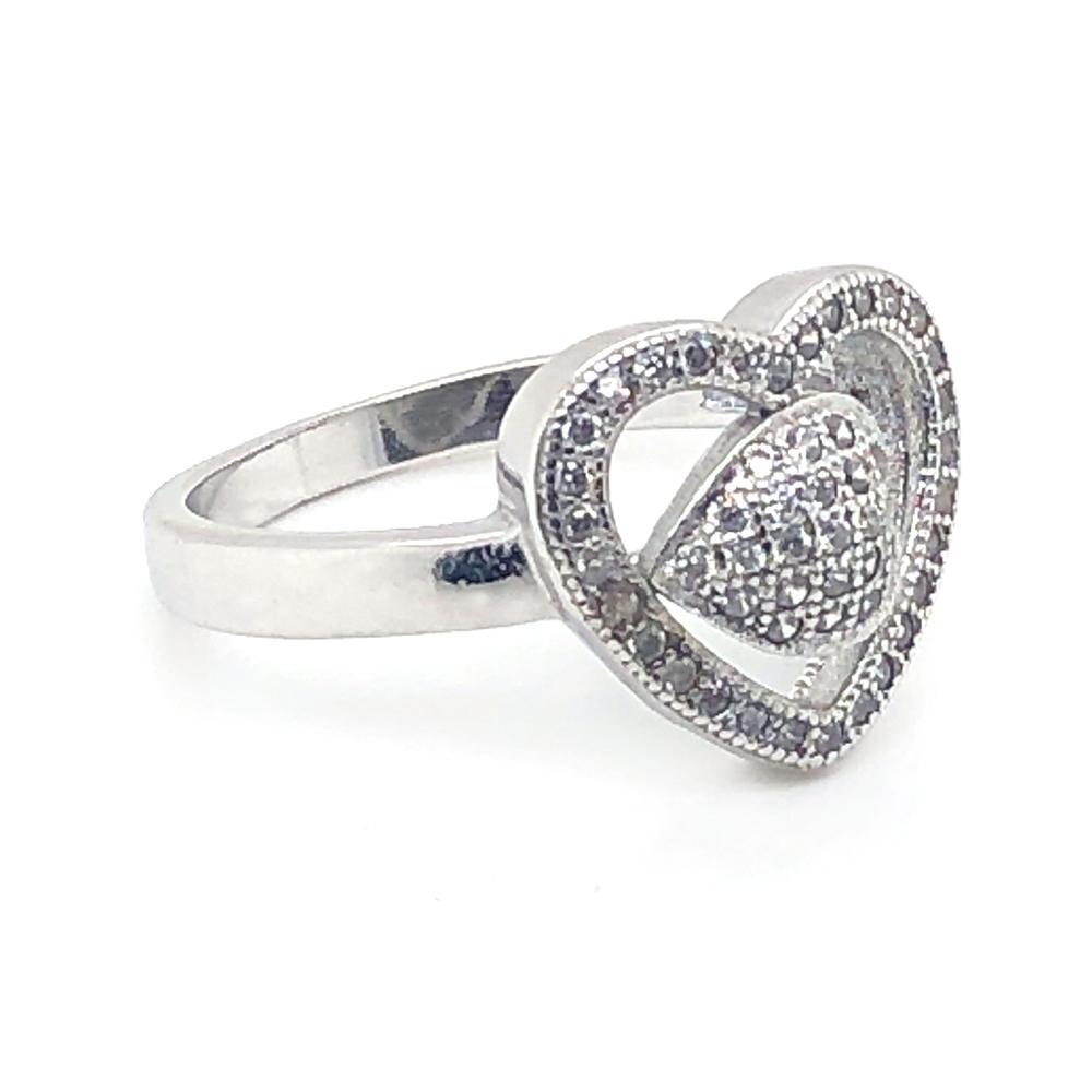 Anniversary classic heart couple wedding artificial diamond ring