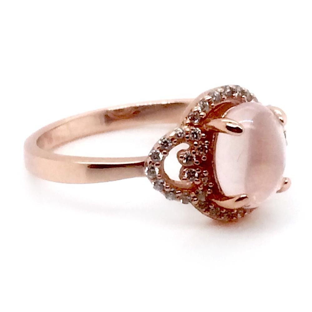 Excellent Silver Wedding Wholesale Real Stone Jewelry Diamond Rose Gold
