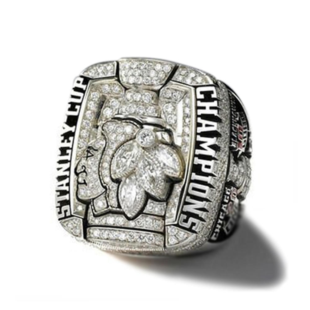 Stanley Cup Chicago Blackhawks Zircon Signet Ring