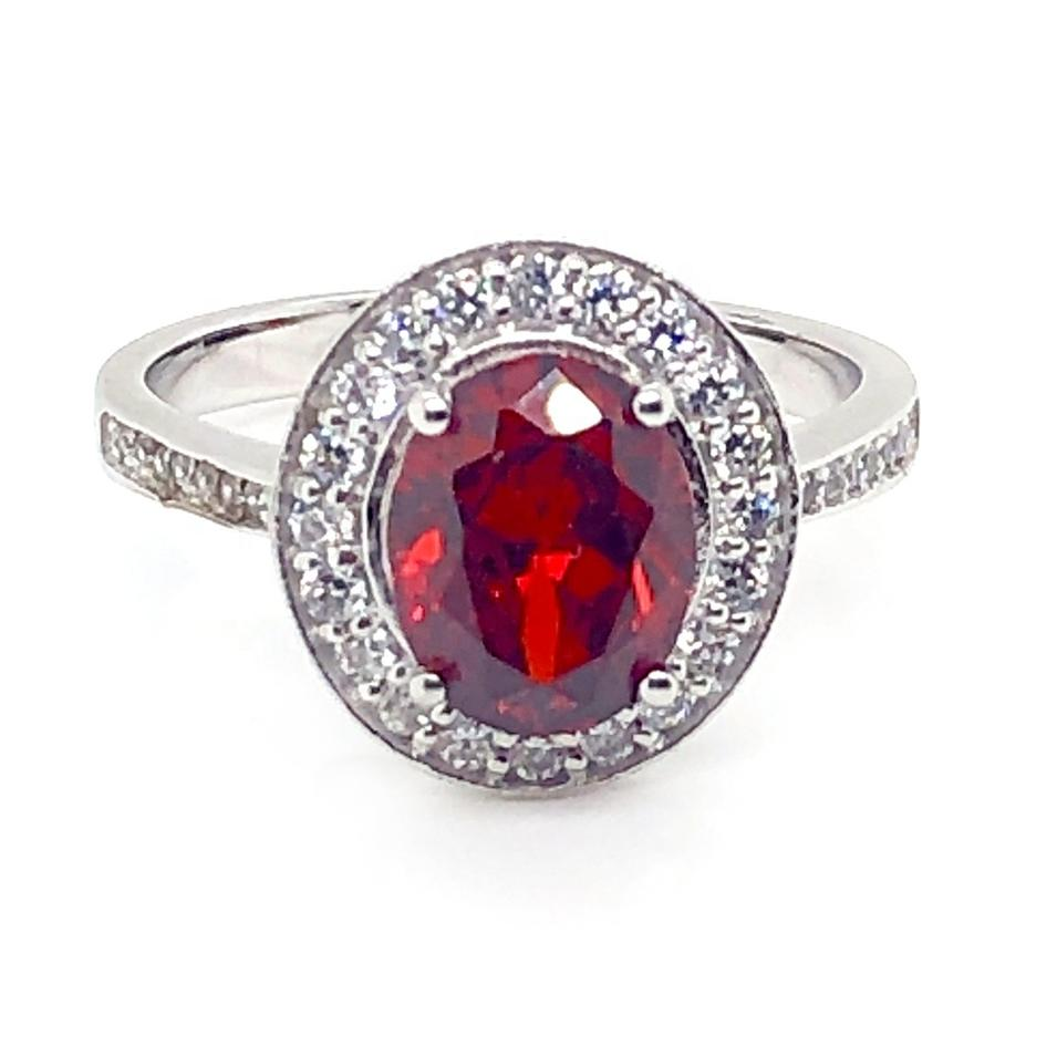 Ingenious Female Lovely Colorful Stone Silver Wedding Ring