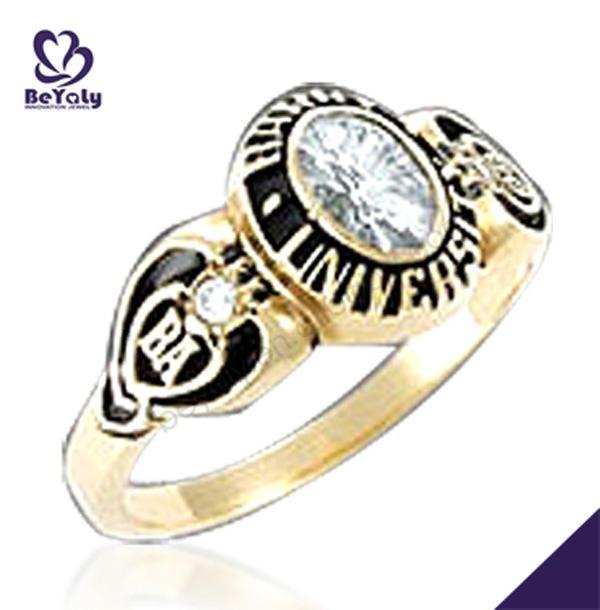 Custom design University Psychology Degree big gold ring