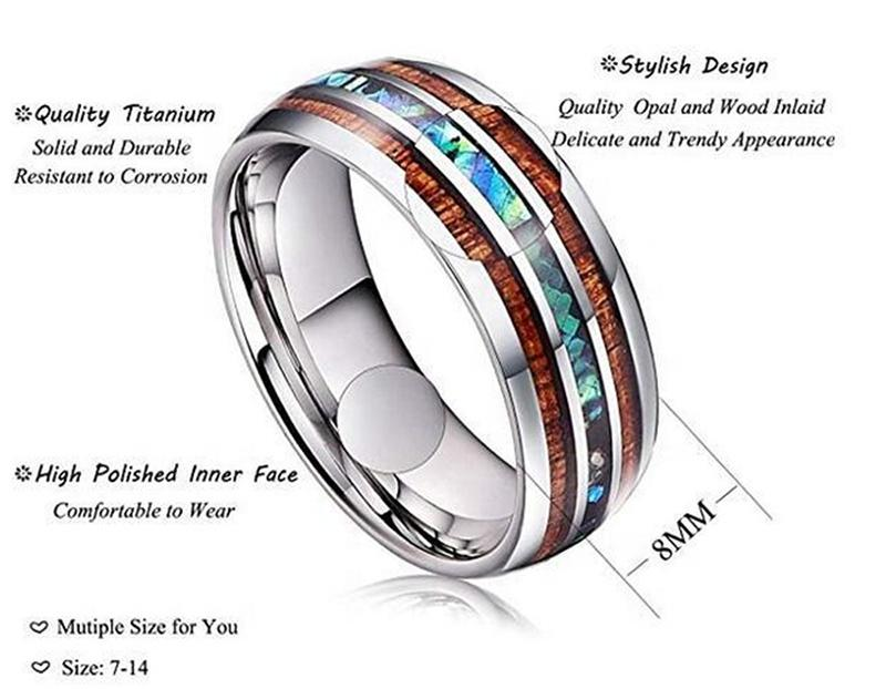 Ceramic Stainless Steel Ring Gifts, Popular European And American Fashion Opal Ring
