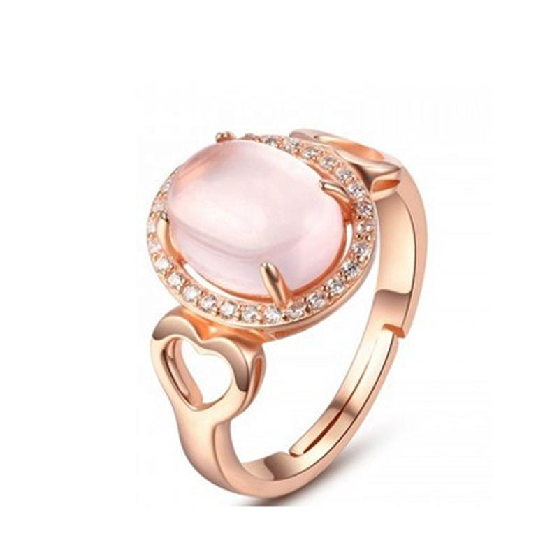 Fashion Gold Plated Design Diamond 925 Sterling Silver Jewelry Ring Women