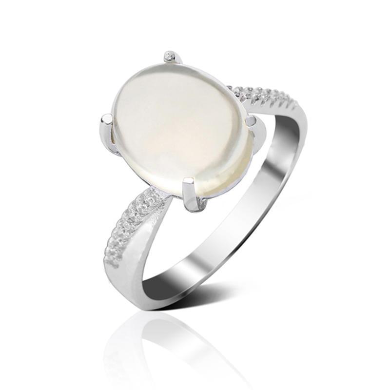 Cheap 925 Sterling Silver Ring Design For Girl, White Gold Diamond Engagement Ring Alphabet
