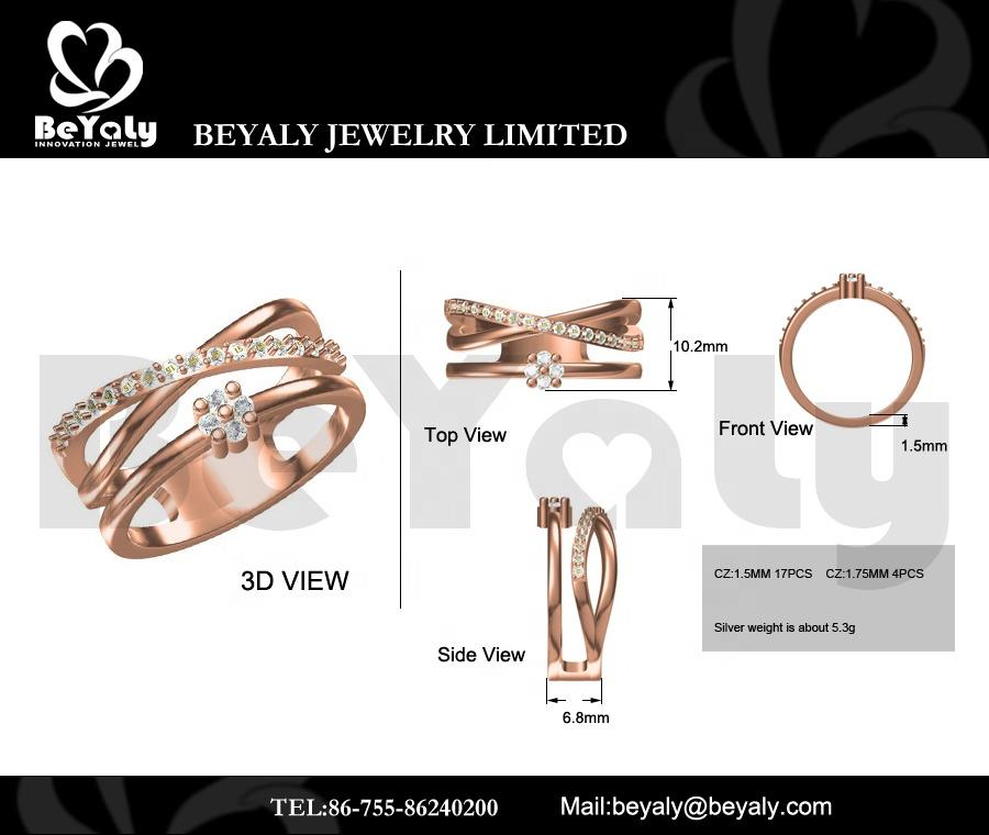 Beyaly CAD Custom Jewelry IX Roman Numeral Design Ring For Female