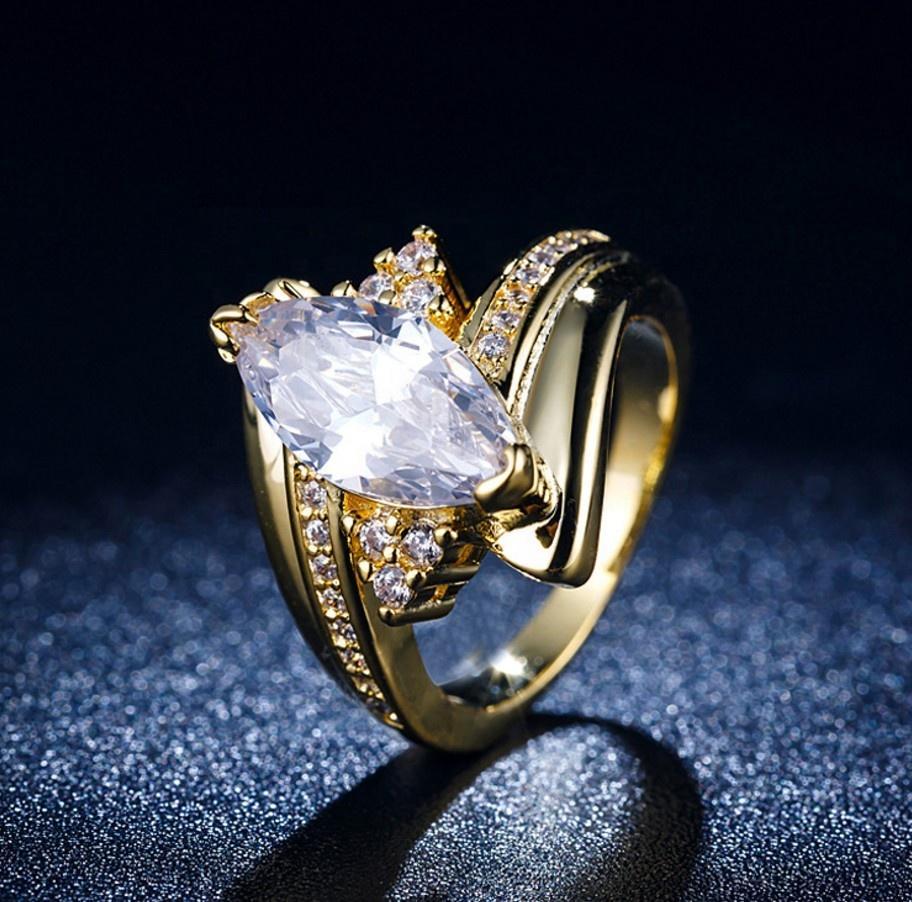 Gold Plating Handmade Horse Eye Stone Jewelry Ceylon Sapphire Rings