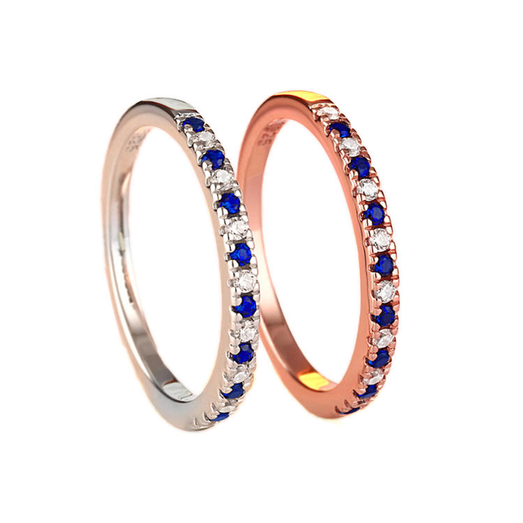 Elegant Rose Gold Plated Cz Silver Engagement Ring Prices