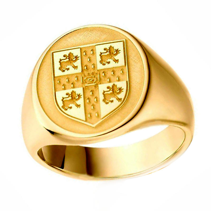 3D Computer Custom Design Gold Plated Jewellery Stainless Steel Signet Ring