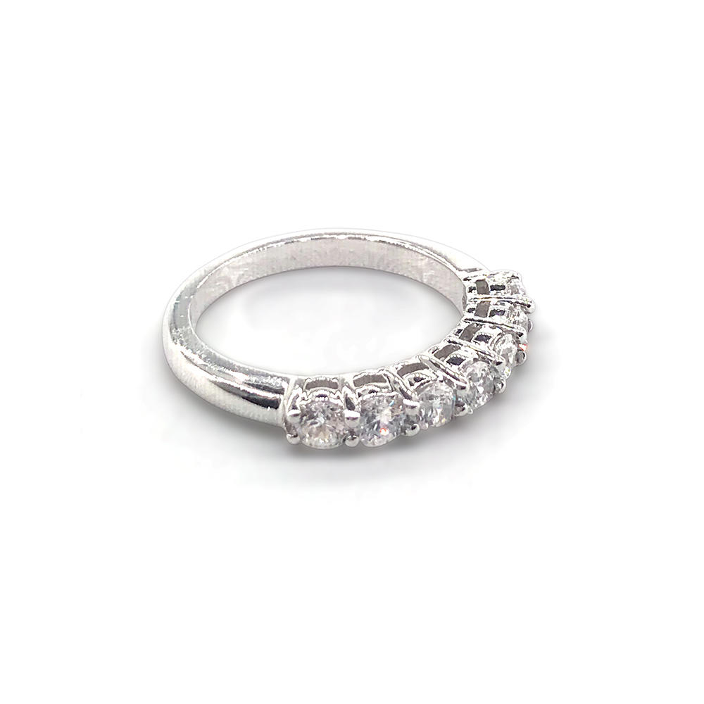 Beautiful rhodium plating 925 sterling silver ring jewel