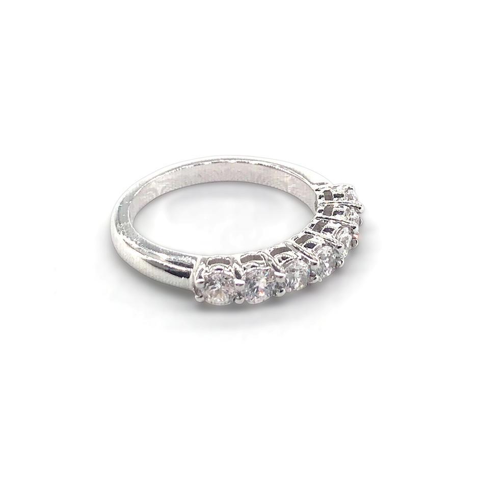 Beautiful rhodium plating 925 sterling silver ring jewel