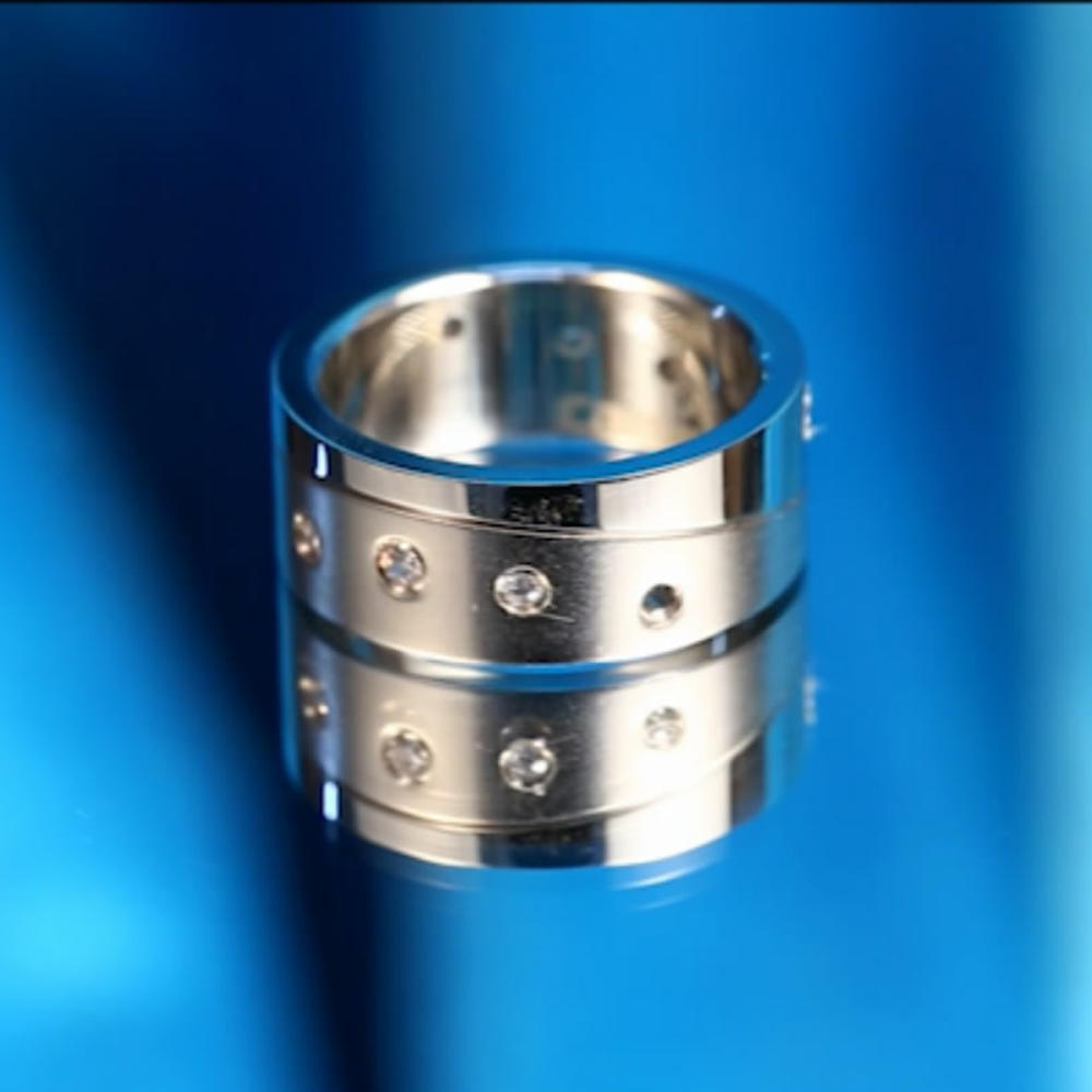 Cheap Jewelry Fashion Finger Ring, Mens Stone Ring Stainless Steel