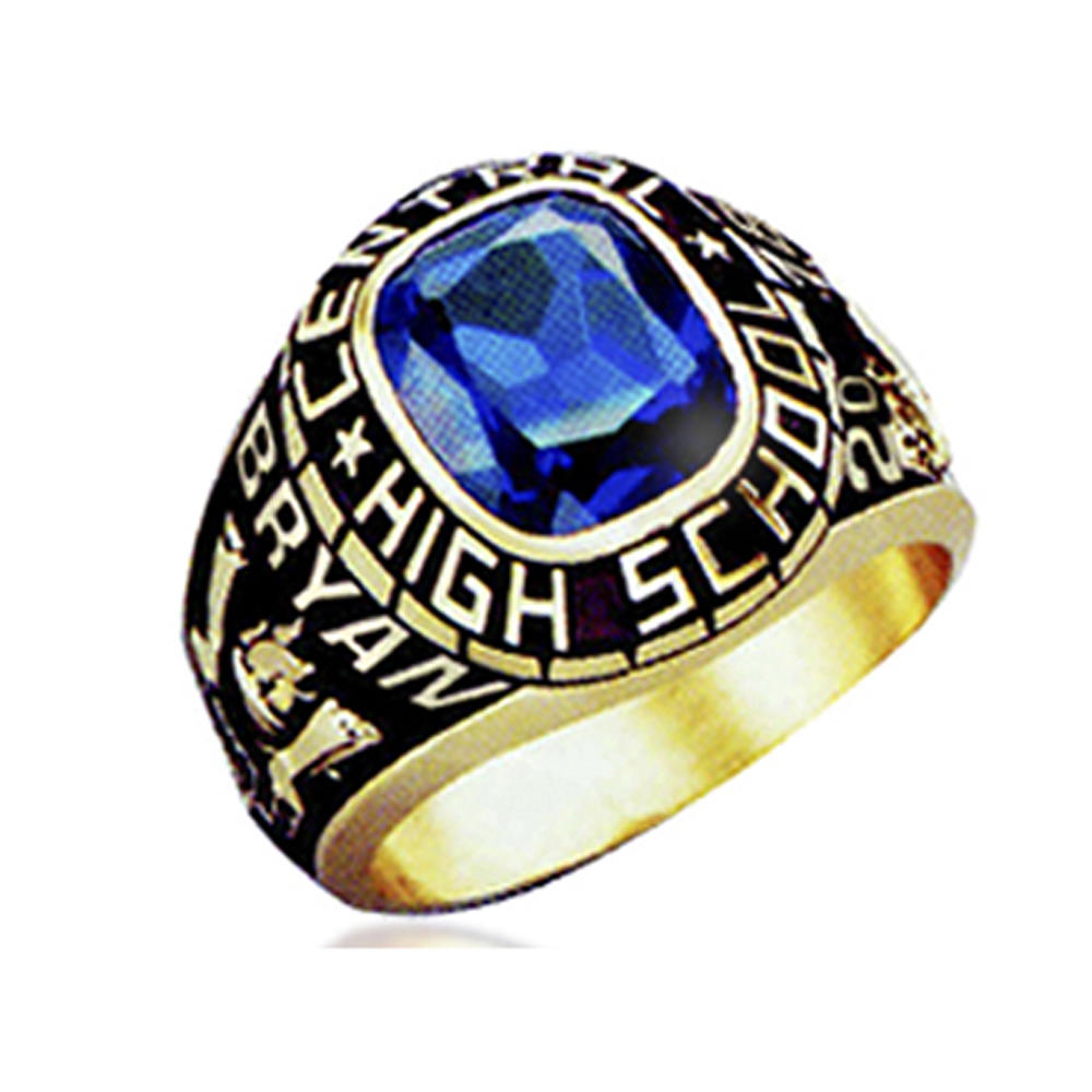 Custom made University of Phoenix BA Business gold plated class ring