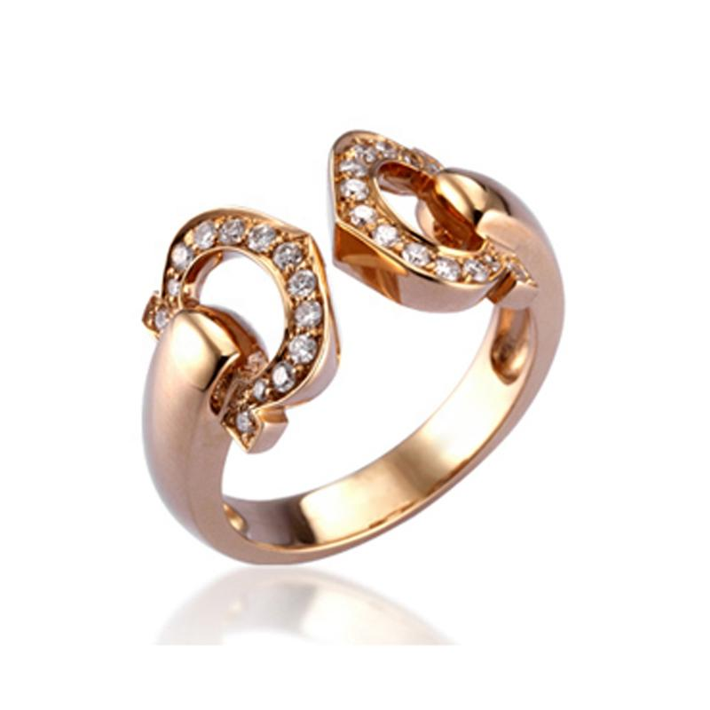AAA Cz Heartshoe Design Gold Plated Jewelry Paint